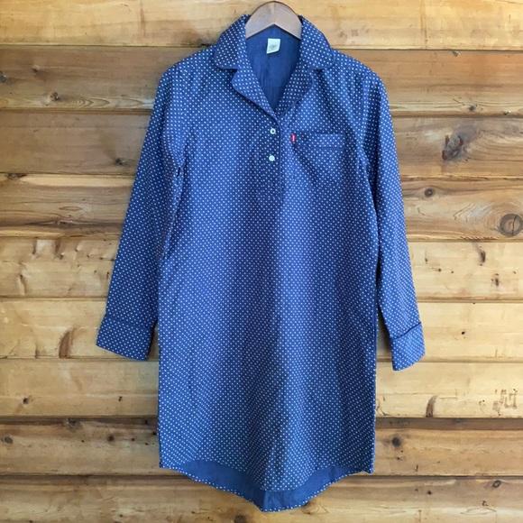 Levi's for Target Polka Dot Woven Sleep Shirt